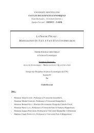 La fraude fiscale: modélisation du face-à-face Etat-Contribuables ...