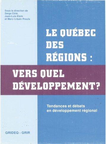 Le Québec des régions : vers quel développement? - Bienvenue sur ...