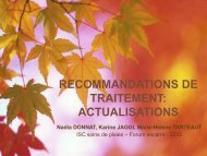 Recommandations de traitements – actualisations - HUG