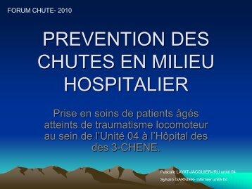 Prévention des chutes en milieu hospitalier - HUG
