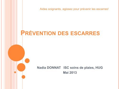 Prevention Des Escarres Hug