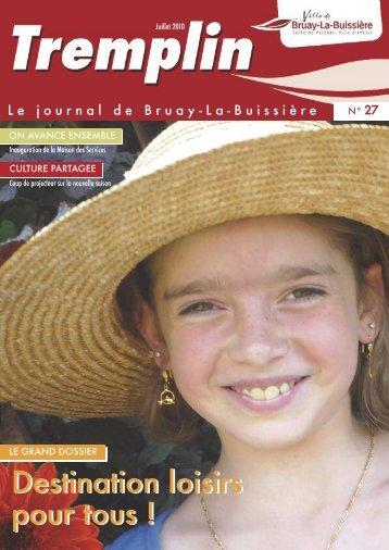 Tremplin n°27 - Juillet 2010 - Ville de Bruay-La-Buissière