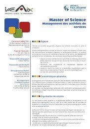 Master of Science - IAE Aix-en-Provence