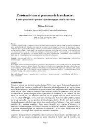Backup of Constructivisme et processus de la recherche - cergam