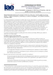 Comm Michel Montebello - IAE Aix-en-Provence