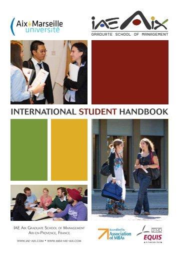 International Student Handbook 2013-14 - IAE Aix-en-Provence