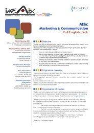 MSc Marketing & Communication, Full English Track - IAE Aix-en ...