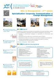MSc Corporate Communication & Change Management - IAE Aix-en ...