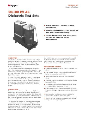 50/100 kV AC Dielectric Test Sets - Maxtech