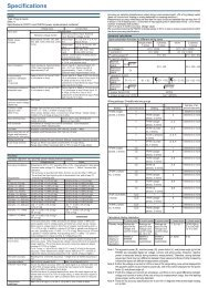 Specifications - Maxtech
