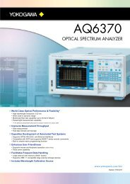 Optical Spectrum Analyzer AQ6370 - Maxtech
