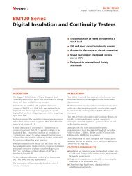 BM120 Series Digital Insulation and Continuity Testers - Maxtech