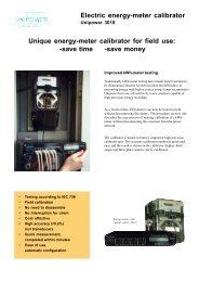 Electric energy-meter calibrator Unique energy-meter ... - Maxtech
