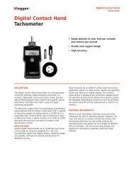Digital Contact Hand Tachometer - Maxtech