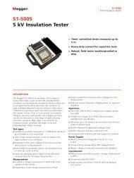 S1-5005 5 kV Insulation Tester - Maxtech