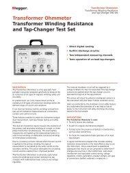 Transformer Ohmmeter Transformer Winding Resistance ... - Maxtech