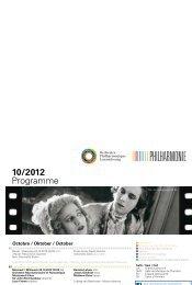 10/2012 Programme - Philharmonie Luxembourg