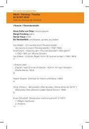 Abendprogramm (PDF) - Philharmonie