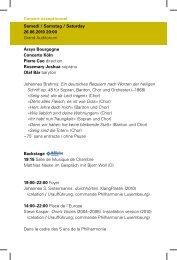 Abendprogramm (PDF) - Philharmonie Luxembourg