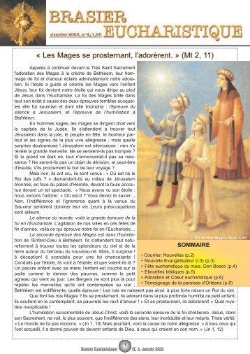 numéro 4 - Adoration perpétuelle eucharistique
