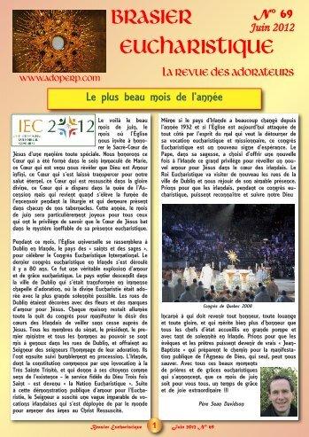 numéro 69 - Adoration perpétuelle eucharistique