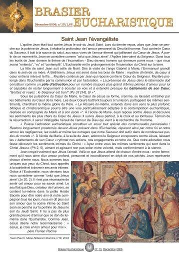 numéro 13 - Adoration perpétuelle eucharistique