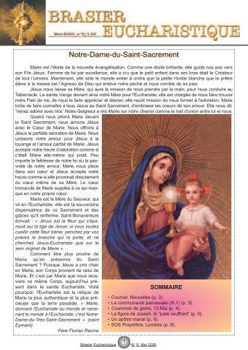 numéro 8 - Adoration perpétuelle eucharistique