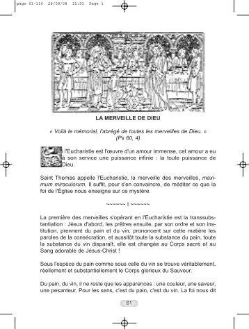 Chapitres 11 - 24 - Adoration perpétuelle eucharistique