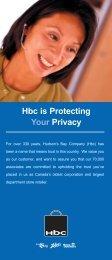 Hbc is Protecting - Hudson's Bay Company