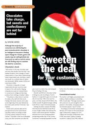 Sweets & Confectionery - Sweeten the deal for your customers(PDF)