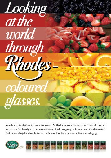 Many believe it's what's on the inside that counts. At Rhodes, we ...
