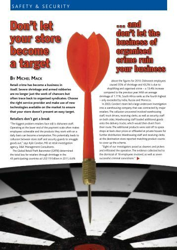 Safety & Security - Don't let your store become a target(PDF)