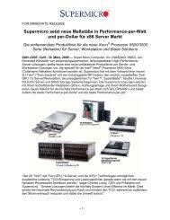 Supermicro setzt neue Maßstäbe in Performance-per-Watt und per ...