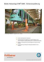 Mobile Hebeanlage EHB 808K - Schienenausführung