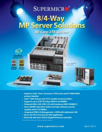8/4-Way MP Server Solutions - Supermicro