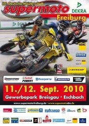 Zeitplan Sonntag, 12. Sept. 2010 - Supermoto.de