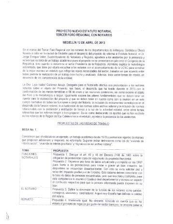 Memorias Notarios en Medellín - Superintendencia de Notariado y ...