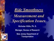 Ride Smoothness Measurement and Specification Issues