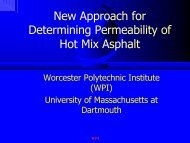 New Approach for determining permeability of Hot Mix Asphalt