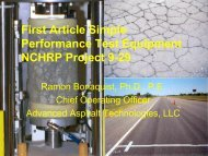 First Article Simple Performance Test Equipment NCHRP Project 9-29