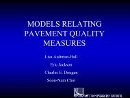 Models Relating Pavement Quality Measures - Lisa Aultman-Hall