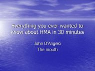 Everything you ever wanted to know about HMA in 30 minutes