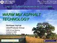 Warm Mix Asphalt Technologies