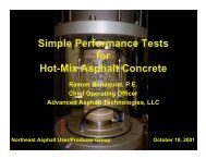 Simple Performance Tests for Hot-Mix Asphalt Concrete