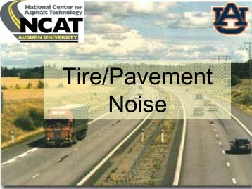 Tire/Pavement Noise - Doug Hansen