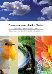 Programme du Jardin des Plantes - Foxoo
