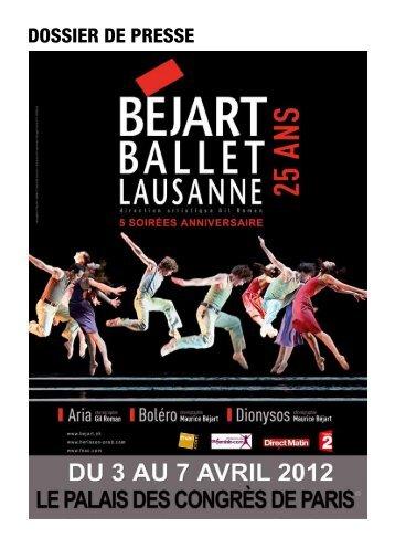 Plus de détails sur le Ballet Béjart - Paris