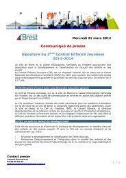 Signature du 2ème Contrat Enfance Jeunesse 2011-2014