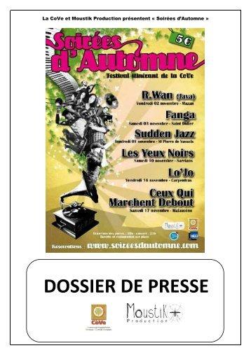 Téléchargez le programme du festival Soirées d'Automne - Vaucluse