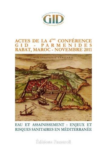 Actes de la IVè Conférence GID-Parmenides - Rabat 2011